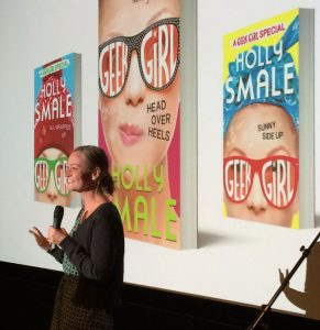 Holly Smale speaks at the Big Book Bonanza Stockholm